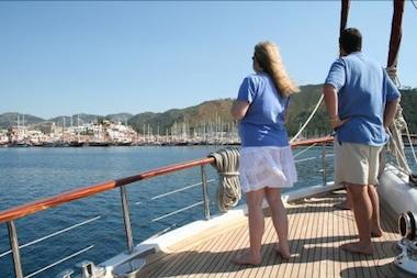 Approaching the marina at Marmaris
