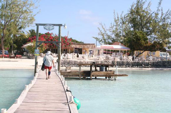 A town dock makes access to the island easy.
