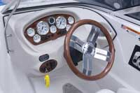 The straightforward dash provides all the information needed.