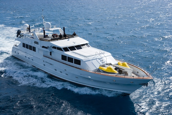The well-known megayacht Java will go to auction if not sold by 3pm on November 2.