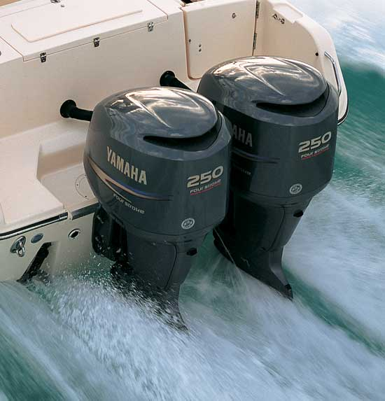 Yamaha is guessing that, in a tight economy, a motor like the 3.3-liter F250 set up for cable controls will be a popular option for those who'd rather re-power than buy a new boat.