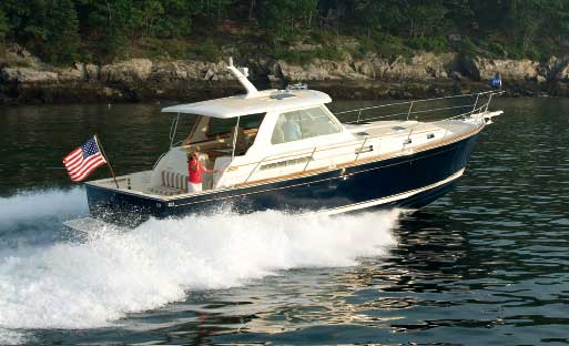 Express cruisers are evolving into smoother riding, more nimble, better laid out boats, like this Sabre 42 Express with Cummins MerCruiser Diesel's Zeus pod drive system.
