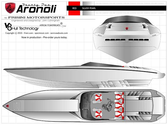 The Aronoli will be Frisini Motorsports first custom V-bottom offering