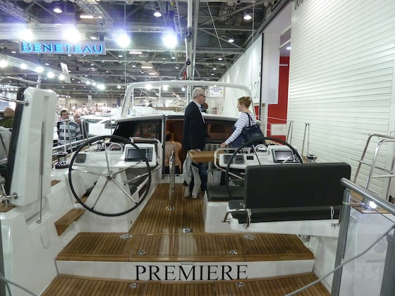 The Sense 43 's hard-chines and broad stern offer a huge cockpit and spacious main saloon.