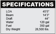 Sea Ray 450 Sedan Bridge Specifications