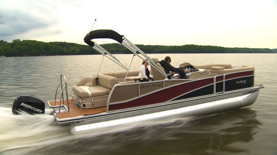 Fast pontoon boat youtube