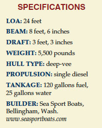 Sea Sport Explorer 2400 specifications