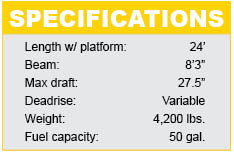 Moomba Mojo 2.5 specifications