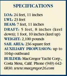 MacGregor 26 specifcations