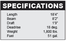 Mako 184 center console specifications