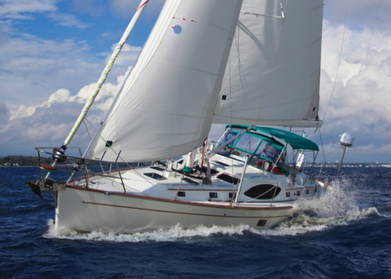 passport yachts 545 under sail