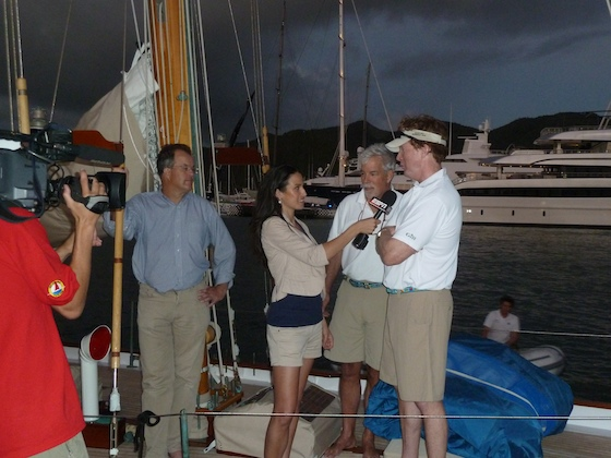 Jo Ankier Dorade Interview at Sint Maarten Yacht Club for Heineken Regatta