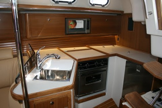 Catalina 385 galley
