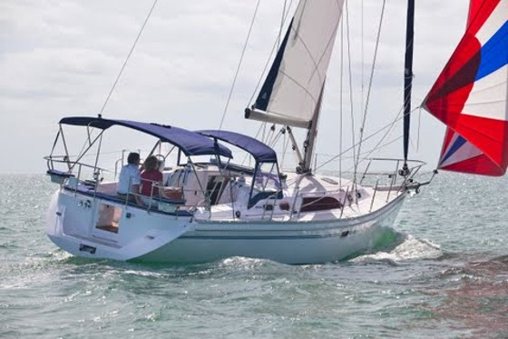 Catalina 385 under sail
