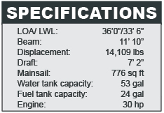 Dufour 36 specifications