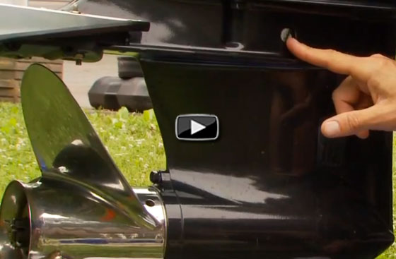 How to change lower unit oil