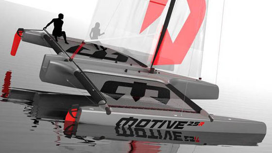 Motive 25R trimaran rendering