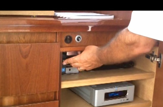sealine yachts pressing buttons
