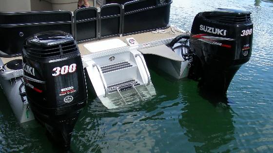 twin engine pontoons