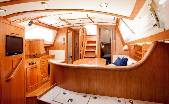 tartan cabin interior