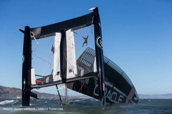 Oracle AC 72 capsize