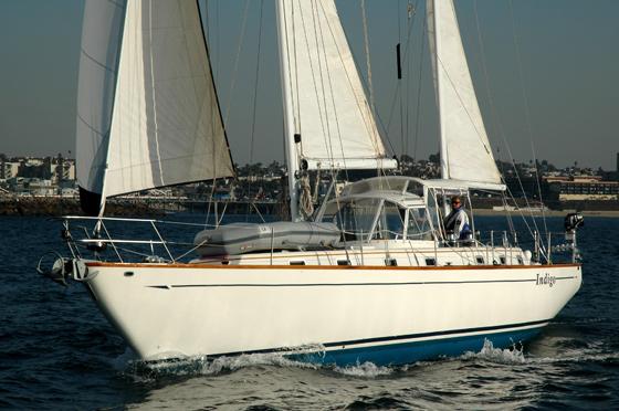 Celestial sailing upwind