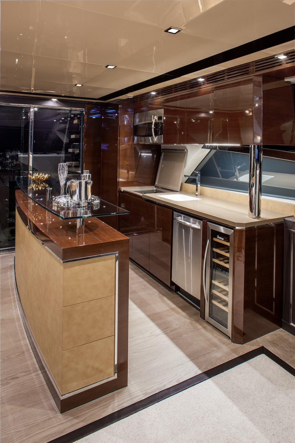 motoryacht galley