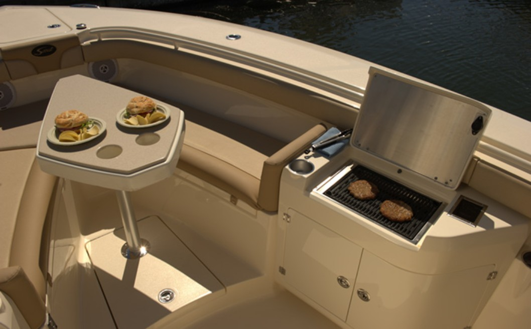 built-in electric grill on boats