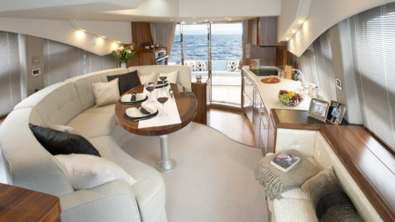 salon in a Sealine T 50
