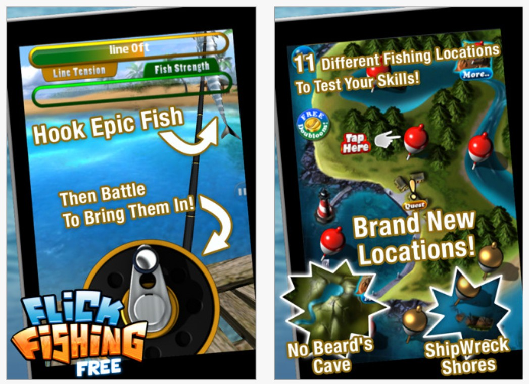 Five fishing apps for your smartphone for Best fishing game app