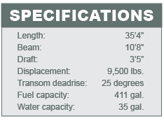 Everglades 355T specifications