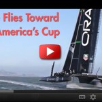 Oracle Flying toward  2013 Americas Cup