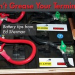 No Grease on Marine Battery Terminals!