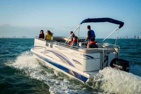 carolina skiff fiberglass pontoon boat