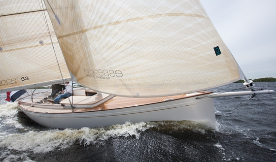 The Essence 33, a graceful daysailer from Holland, is a nominee in the Special Yachts category. Photo: B. Scheurer, YACHT