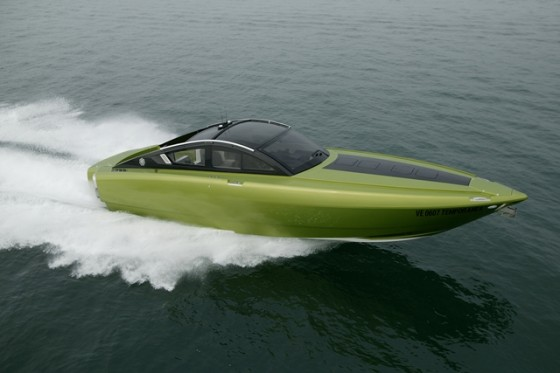 Built in Italy but outfitted with American power, the Revolver 42 is a hardtop sportboat targeted at the U.S. market.