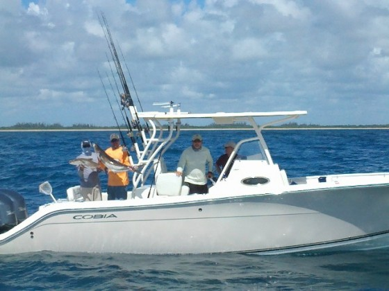 fishing on the cobia 296 cc