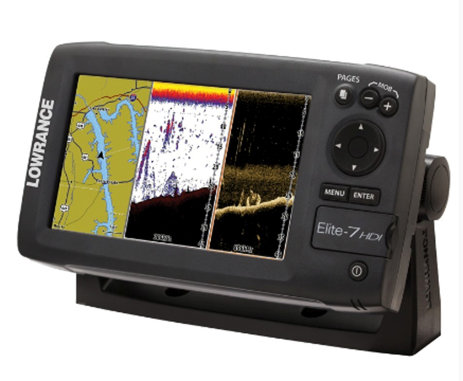 sonar smack-down: traditional fishfinder vs. down-looking scanner, Fish Finder