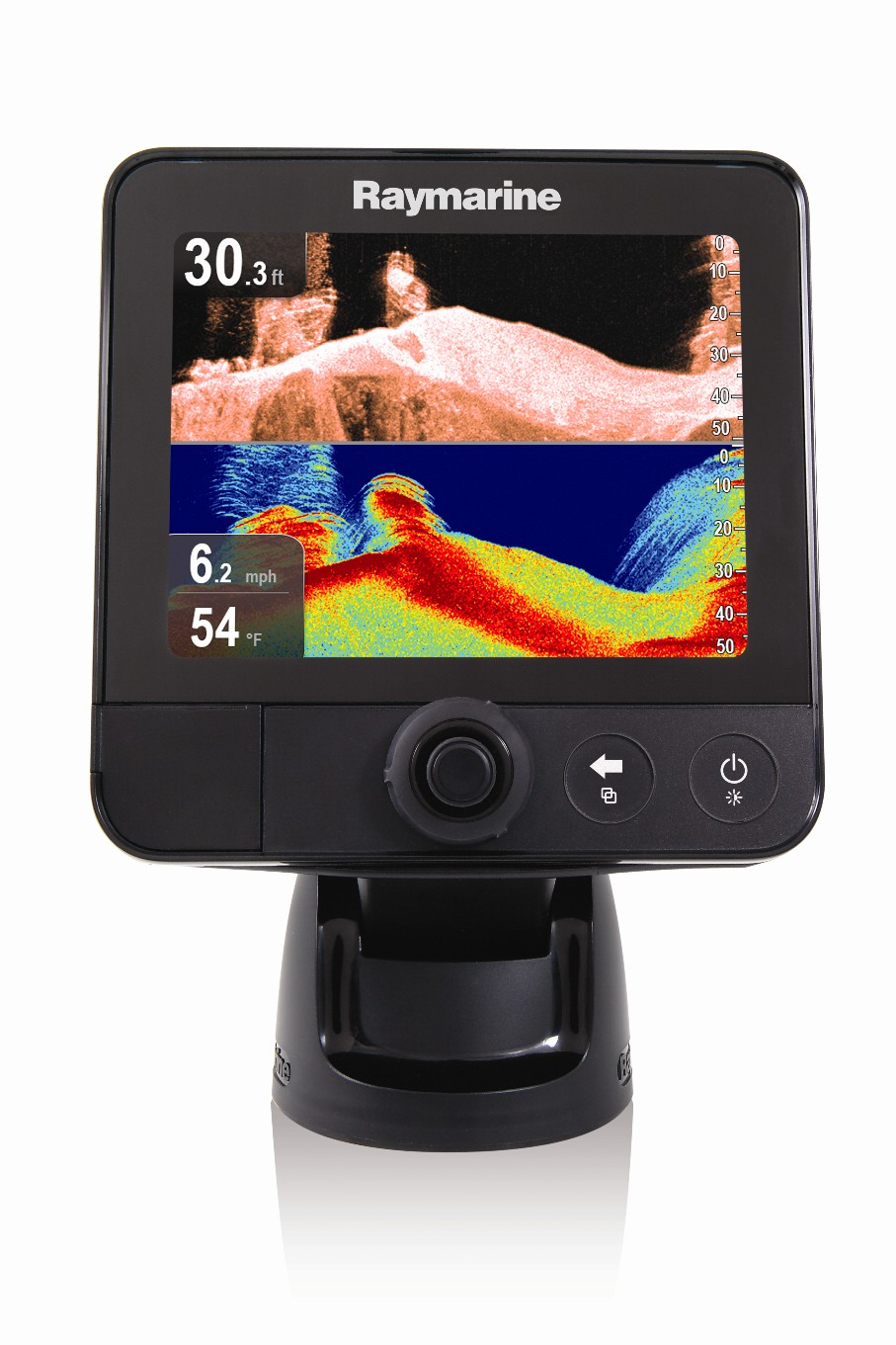 sonar smack-down: traditional fishfinder vs. down-looking scanner, Fish Finder