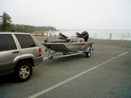 boat on a trailer