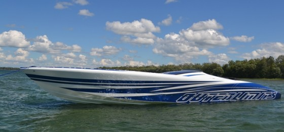 Sitting still or running fast, Scotto's new boat is a stunner.