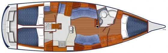 blue jactett 40 cabin