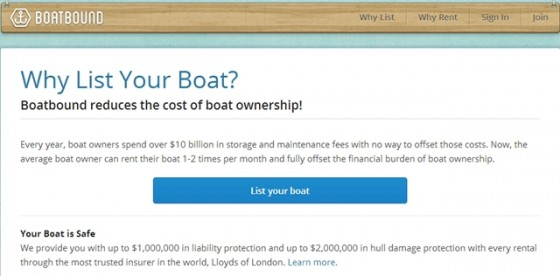 "Boatbound provides ""...up to $1,000,000 in liability protection and up to $2,000,000 in hull damage protection with every rental through the most trusted insurer in the world, Lloyds of London."""