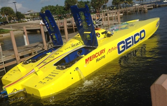 Miss GEICO will have fresh Mercury Racing 1650 Race engines for the SBI Key West Worlds in November.