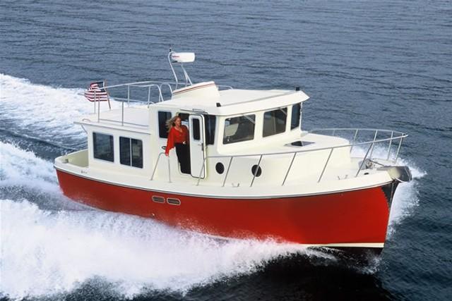 Mini tug joy studio design gallery best design for Garden design trawler boat