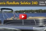 Harris Solstice 240 pontoon boat running
