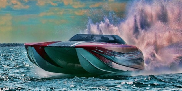 Gone from the Miami show for three years, Mystic will display this pleasure version of its 50-foot catamaran, as well as a brand-new 50-footer for offshore racing.