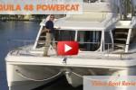 Aquila 48 powercat onboard