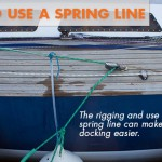 How to Use a Spring Line to Tie Up a Boat