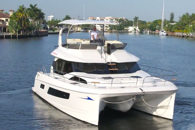 Aquila 44 power catamaran or trawler yes boats com